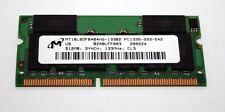 MODULO RAM SODIMM MICRON 512MB PC133 CL3 144 pin USATA OTTIMO STATO EL1 38252
