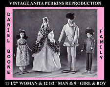 """11 1/2"""" BARBIE Doll ANITA'S DANIEL BOON Family Fabric Sewing Pattern Vintage WOW"""