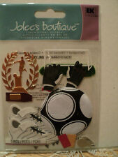 EK SUCCESS JOLEE'S BOUTIQUE PLAYING SOCCER DIMENSIONAL STICKERS BNIP *LOOK*
