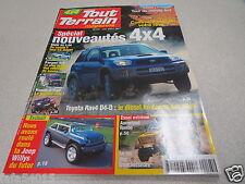 4X4 TOUT TERRAIN MAGAZINE N° 145 SPECIAL NOUVEAUTES BMW X5 TOYOTA RAV4 *
