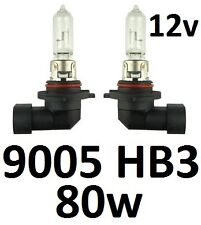 9005 HB3 12v Globes Bulbs 80W BMW X5 Z3 Chrysler 300C PT Cruiser Hi Beam Lights