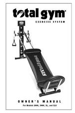 Total Gym 2000 3000 XL XLS Owners Manual Guide For Fitness Exercise System Equip
