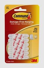 New! 3M Command 12 Decorating Clip Replacement Adhesive Glue Strips 17020 NIB!!