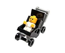 LEGO CITY PARK MINIFIGURE BABY WITH BLACK STROLLER INFANT UNISEX 60134