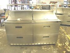 "DELFIELD D4464N FOUR DRAWER MEGA TOP 64"" SANDWICH SUBS DELI PIZZA  PREP TABLE"