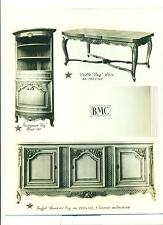 PHOTOGRAPHIE ORIGINALE MEUBLES BMC TABLE BUFFET ENCOIGNURE FAG LOUIS XIV
