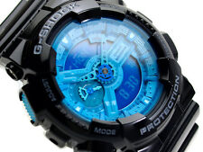 CASIO G-SHOCK MENS WATCH GA-110B-1A2 FREE EXPRESS BLACK / BLUE GA-110B-1A2DR