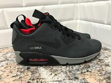 Nike Air Max 90 Mid Winter Print SZ 6.5 Anthracite Black Chilling Red 806850-006
