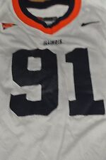 ILLINOIS UNIVERSITY GAME USED FOOTBALL JERSEY SIZE48 #91 GILSTRAP