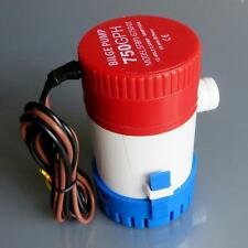 DC12V Boat/Marine 750GPH Submersible Electric Bilge Water Pump Boat Part Hot EH