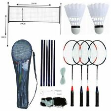 PROFESSIONALI BADMINTON SET 4 Player Racchetta shuttlecock polacchi NET BAG GAME 211074