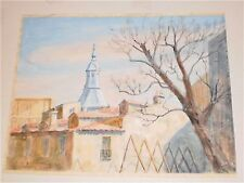 15 x 20 Madrid Rooftops Watercolor-Otto Rothenburgh-60s