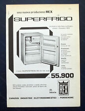 B914-Advertising Pubblicità-1959 - REX ZANUSSI SUPERFRIGO