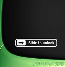 SLIDE TO UNLOCK X2 STICKER FUNNY JDM EURO FIAT FORD HONDA CITROEN CORSA