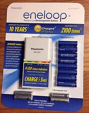 Panasonic Eneloop Rechargeable Battery Kit w/ 8 AA, 4 AAA & Charger - Brand New