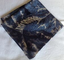 Blue leaves Liberty of London silk pocket square