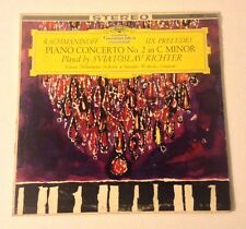 RACHMANINOFF RICHTER PIANO WISLOCKI DGG RED STEREO LP GERMANY 1962 RARE
