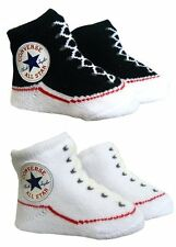 Converse Baby All Star Knit Booties 2 Pack Black/White