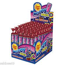 1 Box a 48 Chupa Chups Lutscher Melody Pops Fruit  a 15g
