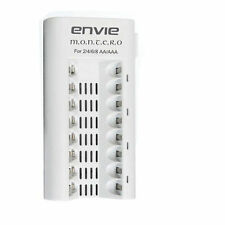 Envie Montero Charger (ECR 19) for 2-4-6-8 AA/AAA batteries + warnty