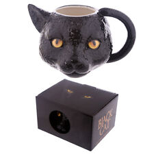 Novelty Black Cat Head Shaped Handle Ceramic Mug Ideal Halloween