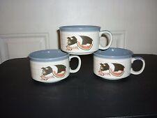 3 Vintage Otagiri Pig Coffee soup mug Embossed