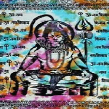 "Lord Shiva Tapestry 72' X 108""  Tie / Dye 100 % Cotton Hand Made in India"