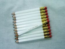 "24 ""White"" Personalized Golf Pencils with Erasers"