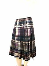 NWT LAVIA 18-PIAZZA SEMPIONE WOOL PLEATED KNEE LENGTH SKIRT SIZE 48/XL
