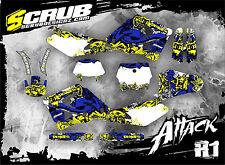 SCRUB Husqvarna  WR 250 360 2000 - 2004 00' 04' Grafik Dekor-Set