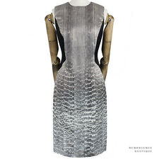 Jason Wu Luxurious Grey Black Snake-Print Silk Hourglass Illusion Dress US6 UK10