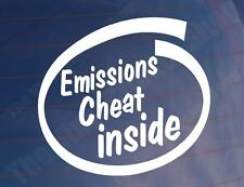 EMISSIONS CHEAT INSIDE Funny Diesel Car/Van/Window/Bumper Vinyl Sticker/Decal