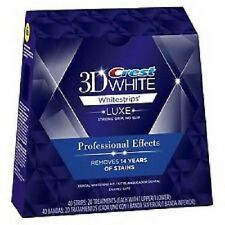 10 Pouches 20 Strips Crest 3D Whitestrips LUXE Professional Effect Whitening USA