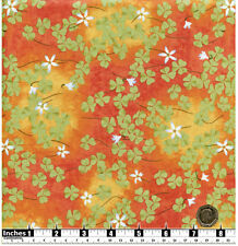 Quilting Fabric Light Green Shamrocks Orange Tan BG Fat Quarters 100% Cotton
