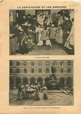 Croix-Rouge Red Cross Hôpital Necker-Enfants malades Paris 1910 ILLUSTRATION