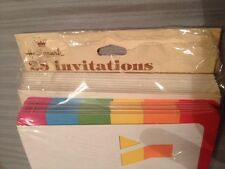 2 Packages Of Hallmark Party Invitations, 1 Red, 1 Rainbow, 33 Total - Birthday!