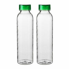 2 x IKEA BEHÅLLARE (Behallare) Clear Plastic Water Bottles With Lids (0.6Ll)