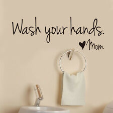 Quote Words Wash Your Hand Removable Wall Sticker Art Vinyl Decal Bathroom Decor
