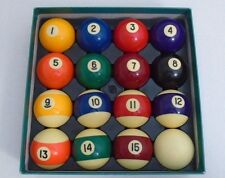 "Pool Table Billiard Ball Set Size 2 1/4"" And Weight 6 oz"