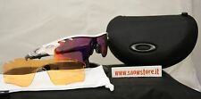 OAKLEY RADARLOCK PATH VENTED POLISHED WHITE PRIZM ROAD PERSIMMON BIKE OCCHIALI N