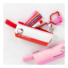 Sanrio Hello Kitty Strap Pouch Pencil Case Bag Zippered Cosmetic - RED