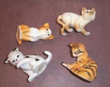 Danbury Mint 4 Cats of Character Tail End Watching Out Wash Time Sitting Pretty