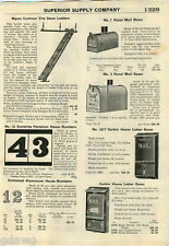 1928 ADVERT Myers Store Rolling Ladder Dietz Lantern Kerosene Railroad Monarch