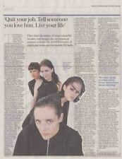 SAVAGES : newspaper INTERVIEW ARTICLE -2016-