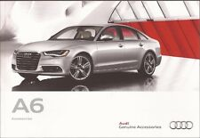 2012 12 Audi  A6  Accessories original sales  brochure  MINT