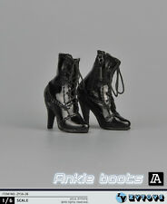 ZY Toys 1:6 Figure Accessories Ankle Boots Black ZY-16-28A