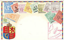 Ottmar Zieher STAMP postcards:No.88-MAURITIUS, 1899-02 series, MINT, not emboss.