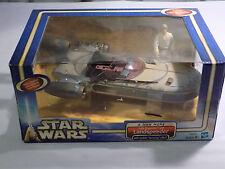 STAR WARS 2003 HASBRO LEGACY LUKE SKYWALKER'S LANDSPEEDER COMPLETE MIB!
