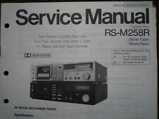 TECHNICS RS-M258R Cassette Tape Deck Service manual wiring parts diagram