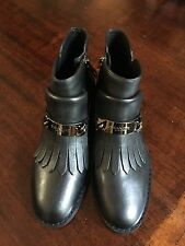 Beautiful Black Coach Eagle Fringe Bootie Size Size 6 NEW!